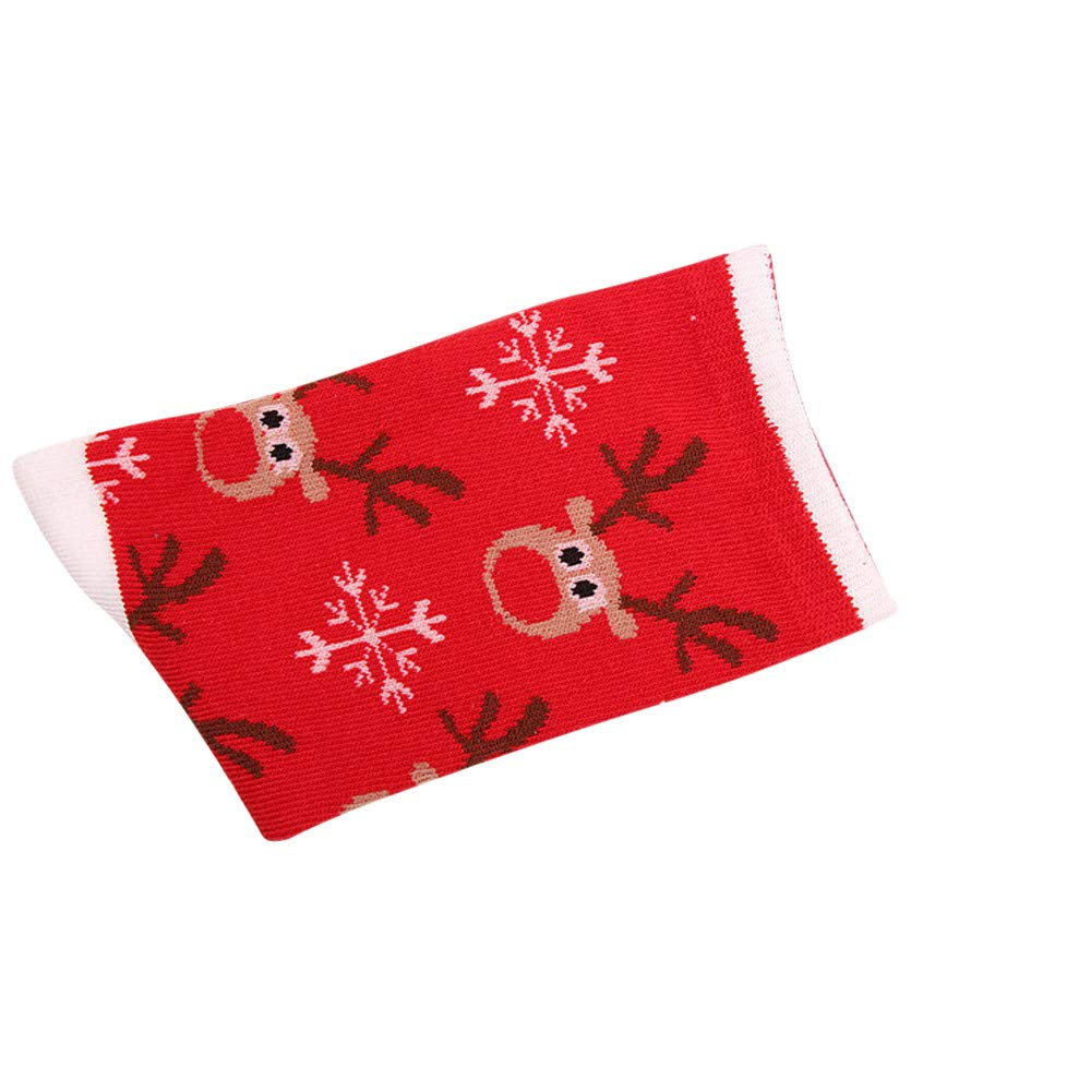 Pausseo Unisex Women's Men Winter Socks Christmas Snowman Santa Claus Cane Star Gift Warm Soft Cotton Sock Comfortable Sweat Deodorant Anti-Slip Girls Bed Sleep Skateboard Tube Sock Stockings
