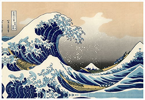 Wieco Art Great Wave of Kanagawa Katsushika Hokusai Extra Large Modern Gallery Wrapped Giclee Canvas Prints Abstract Seascape Sea Artwork Pictures Paintings on Canvas Wall Art for Home Decor ()