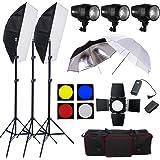 BPS 540w Studio Flash Lighting set 3 x 180 watt Light Kit