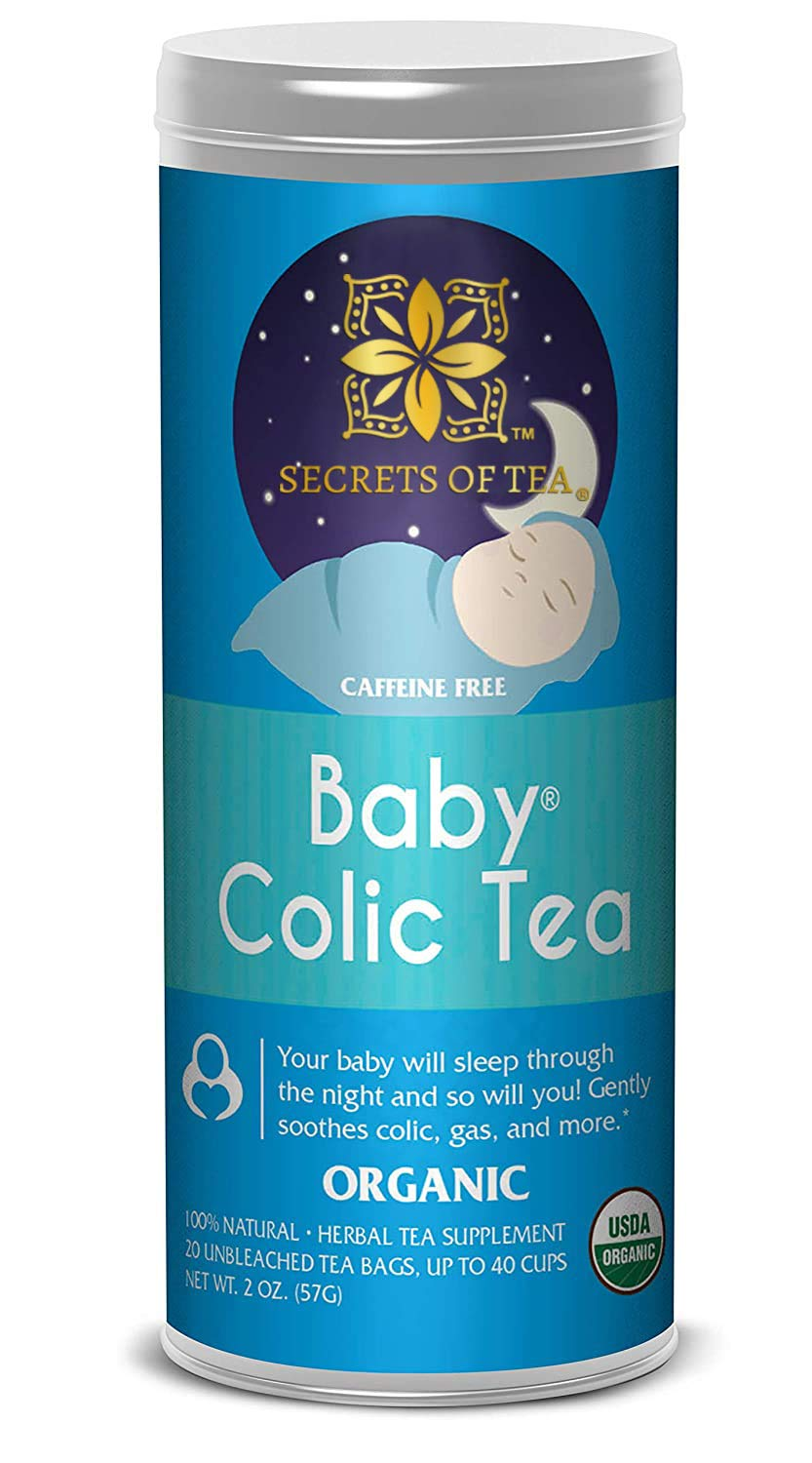 Baby Colic Tea – Digestive & Colic Prevention Herbal Tea – Soothes Acid Reflux, Newborn Tummy Digestion, Promotes Better Sleep – Calming, Safe & Healthy Colic Relief Tea – 20 Count: Baby