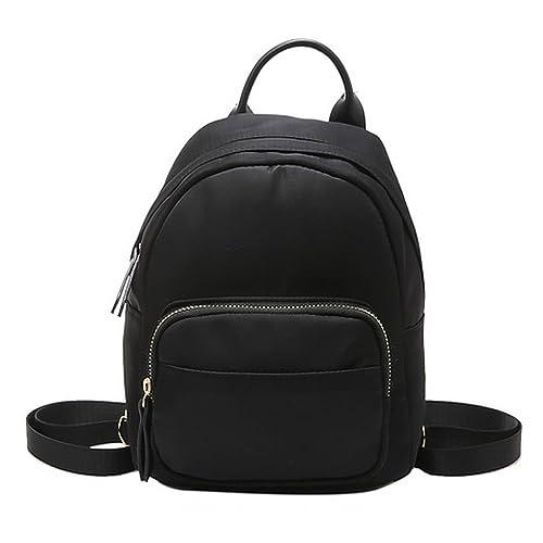 f42366f62860 CLARA Camouflage Women Mini Backpack Nylon Leisure Daypack Printed Shoulder  Bag Handbag Purse(Black)