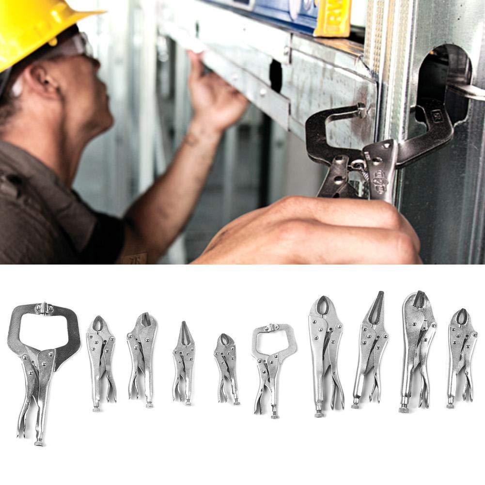 Pinze autobloccanti set da 10 pezzi pinze di bloccaggio in lega di acciaio con morsetto a forma di C per serraggio torsione e rotazione