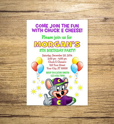 Amazon Com Custom Chuck E Cheese Birthday Party Invitations
