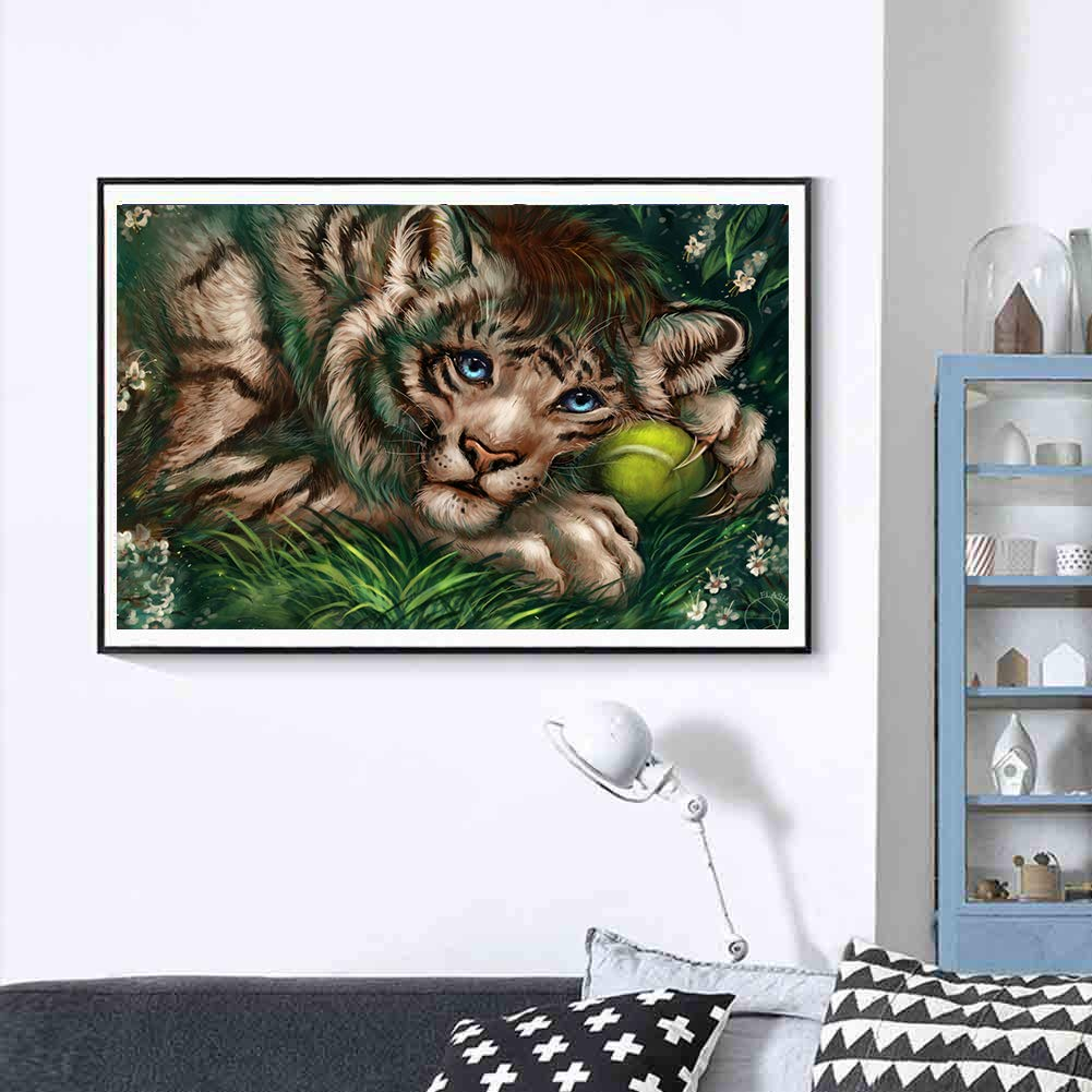5D Diamond Painting Full Drill feilin DIY Diamond Rhinestone Painting Kits for Adults and Beginner Embroidery Arts Craft Home Decor Tiger B 40x30cm