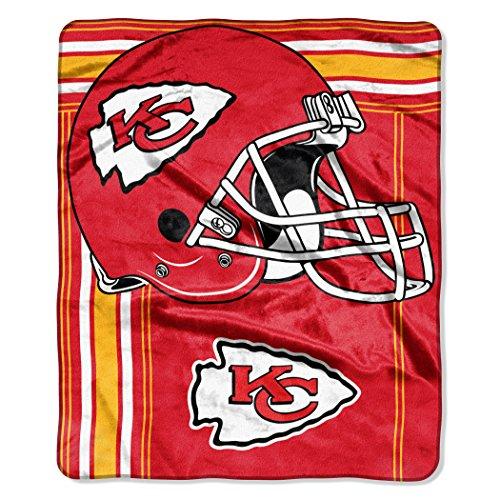 The Northwest Company NFL Kansas City Chiefs Touchback Plush Raschel Throw, 50