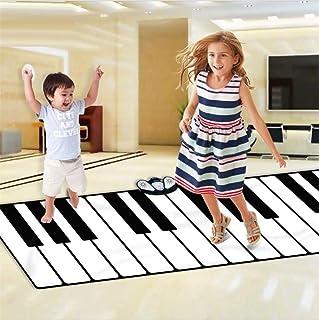 YUE QI Piano Coperta per Bambini 24 Tasti Piano gigantesco Tappetino può Essere collegato a MP3 o Cellulare Volume di Riproduzione Regolabile