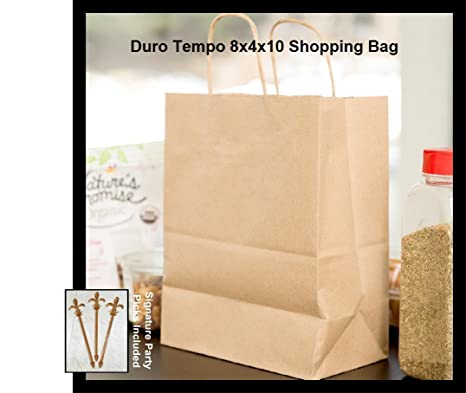 83c246efb9b Image Unavailable. Image not available for. Color  50 Paper Retail Shopping  Bags KRAFT with Rope Handles ...