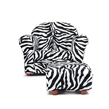 Astonishing Keet Roundy Chair With Ottoman Zebra For Children Ages 2 To 5 Alphanode Cool Chair Designs And Ideas Alphanodeonline