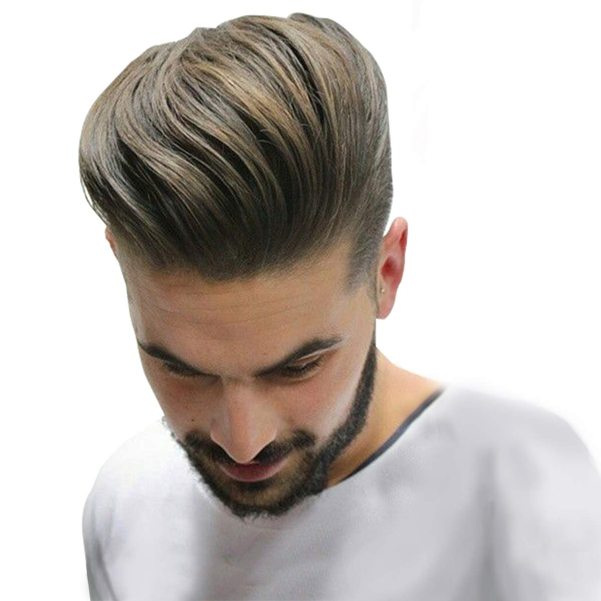 Homelix Skin Men's Hair Toupee Human Hair Pieces Real Hair Toupee For Men Wig