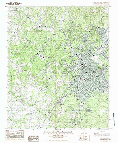 Rock Hill West SC topo map, 1:24000 scale, 7.5 X 7.5 Minute, Historical, 1984, updated 1985, 26.7 x 21.9 IN - - Village Brookwood