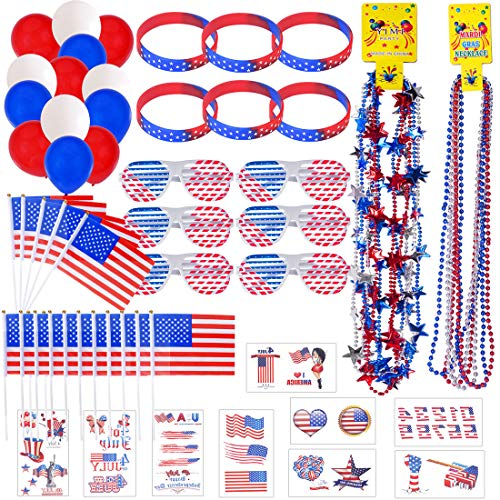 116 PCS 4th of July Accessories for Patriotic
