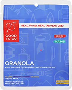 GOOD TO-GO Granola | Dehydrated Backpacking and Camping Food | Lightweight | Easy to Prepare