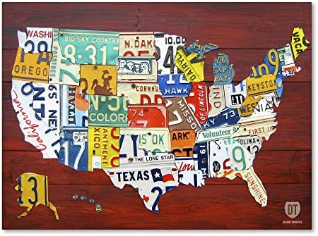 License Plate Map USA