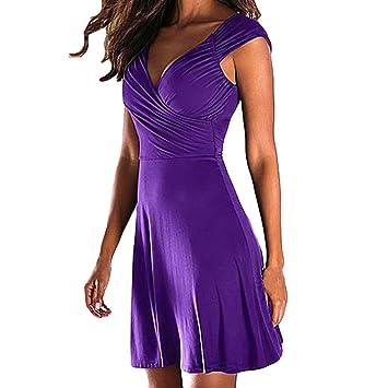 Vestido de verano para mujer, vestido de noche de una línea sólida, vestido de