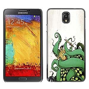 Shell-Star Art & Design plastique dur Coque de protection rigide pour Cas Case pour SAMSUNG Galaxy Note 3 III / N9000 / N9005 ( Octopus Sea Monster Green Legs Ocean Art )