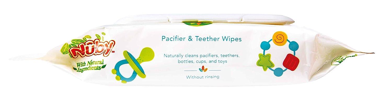 con Ingredientes naturales N/ûby 96 Toallitas Toallitas para Limpiar Chupetes y Mordedores