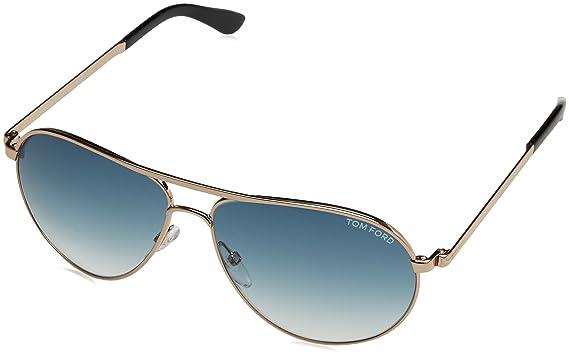 cc5f4a7cac3d Amazon.com  Tom Ford 0144 28W Gold Marko Square Aviator Sunglasses ...