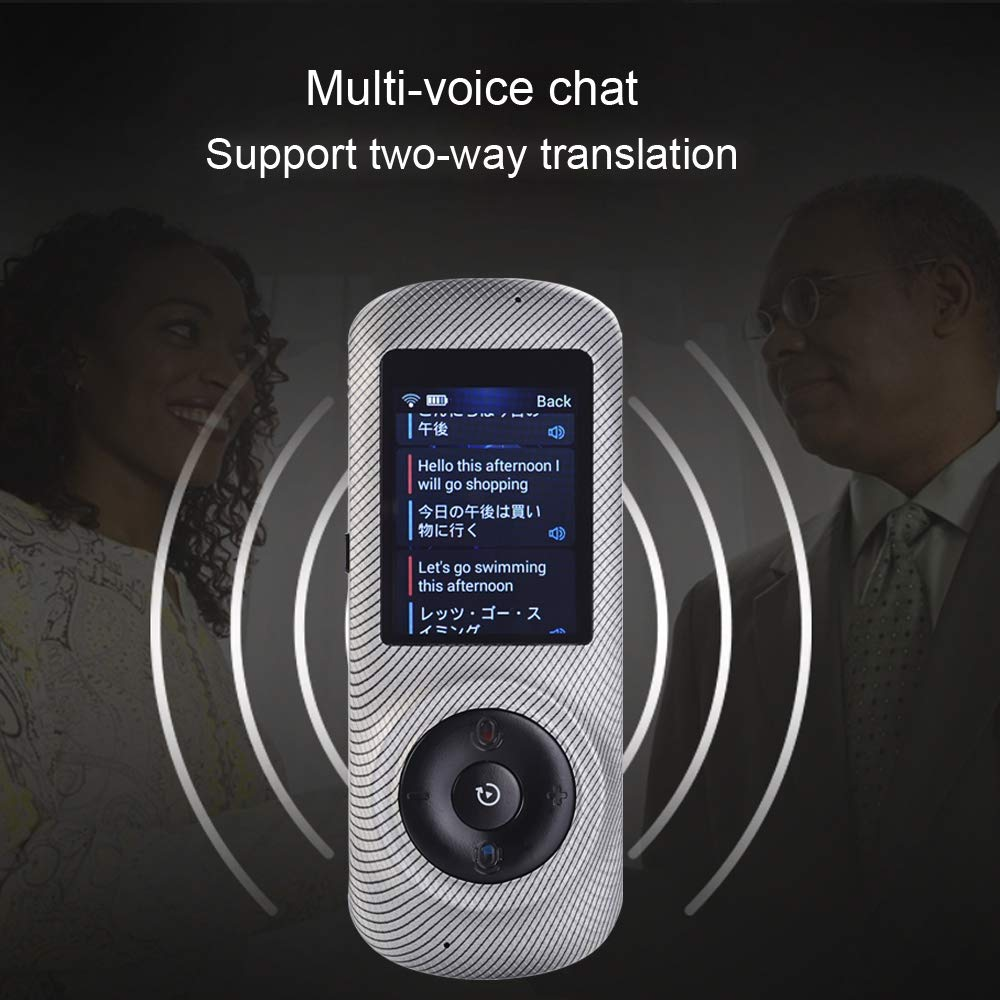 Instant Voice Translator Device Translation 45 Languages Smart 2 Way WiFi 2.4inch IPS Capacitive Touch Screen by Aspiring (Image #4)