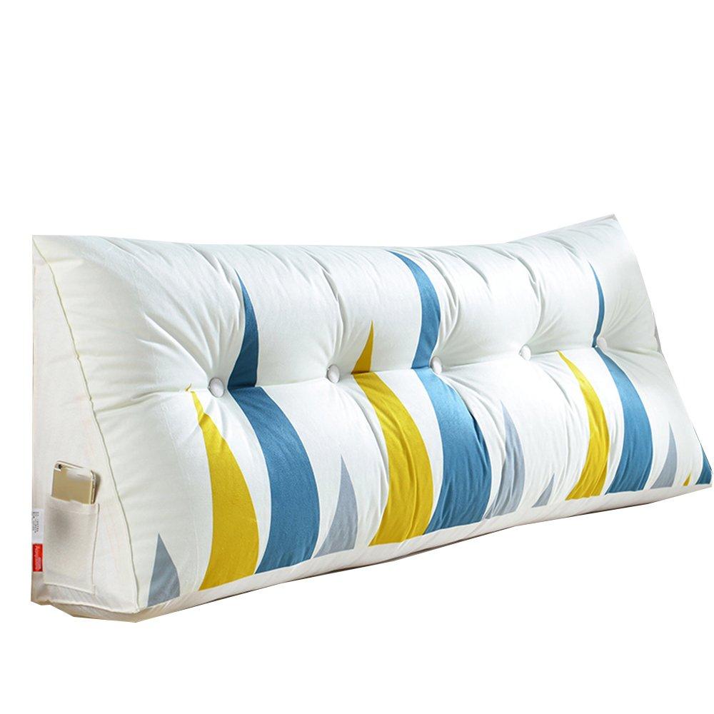 クッション クッションベッドヘッドモダンでシンプルな布アートトライアングルクッションソフトケースダブルベッドフードラージバックピローソリッドウッドベッドクッション環境保護なし臭い3無色6サイズあり 枕 (色 : A, サイズ さいず : 100cm) B07DPC3XLXA 100cm