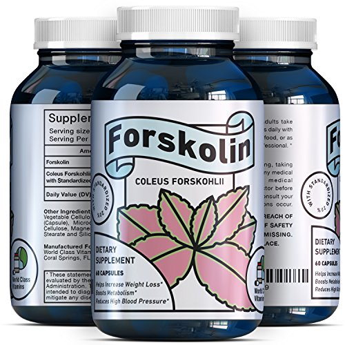 Natural Forskolin Weight Loss Supplement - Metabolism Fuel - for Men + Women - 250 mg Premium Fat Burner Capsules - Trim + Slim Appetite Suppressant - Pure Coleus Forskohlii Root Extract