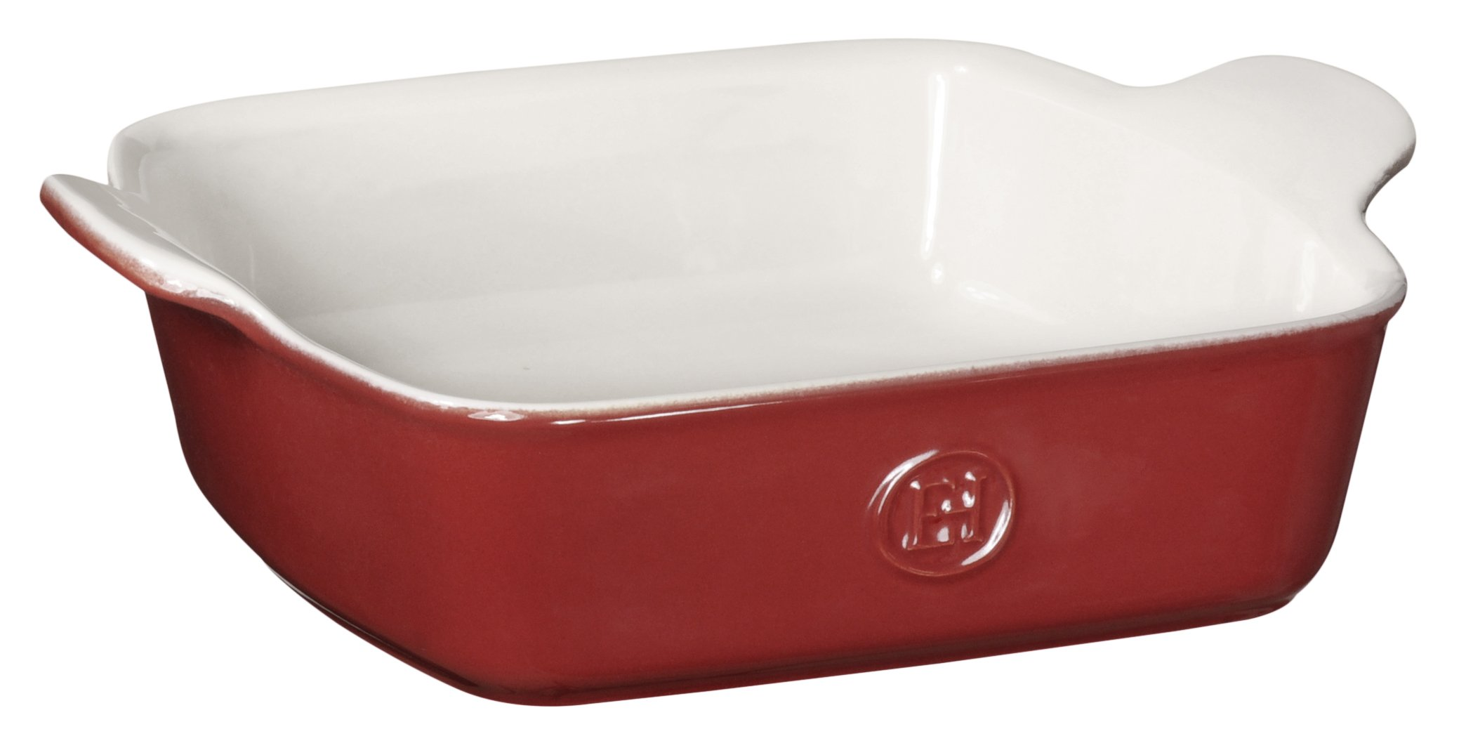 Emile Henry Made In France HR Modern Classics Square Baking Dish 8 x 8'' / 2 Qt, Red