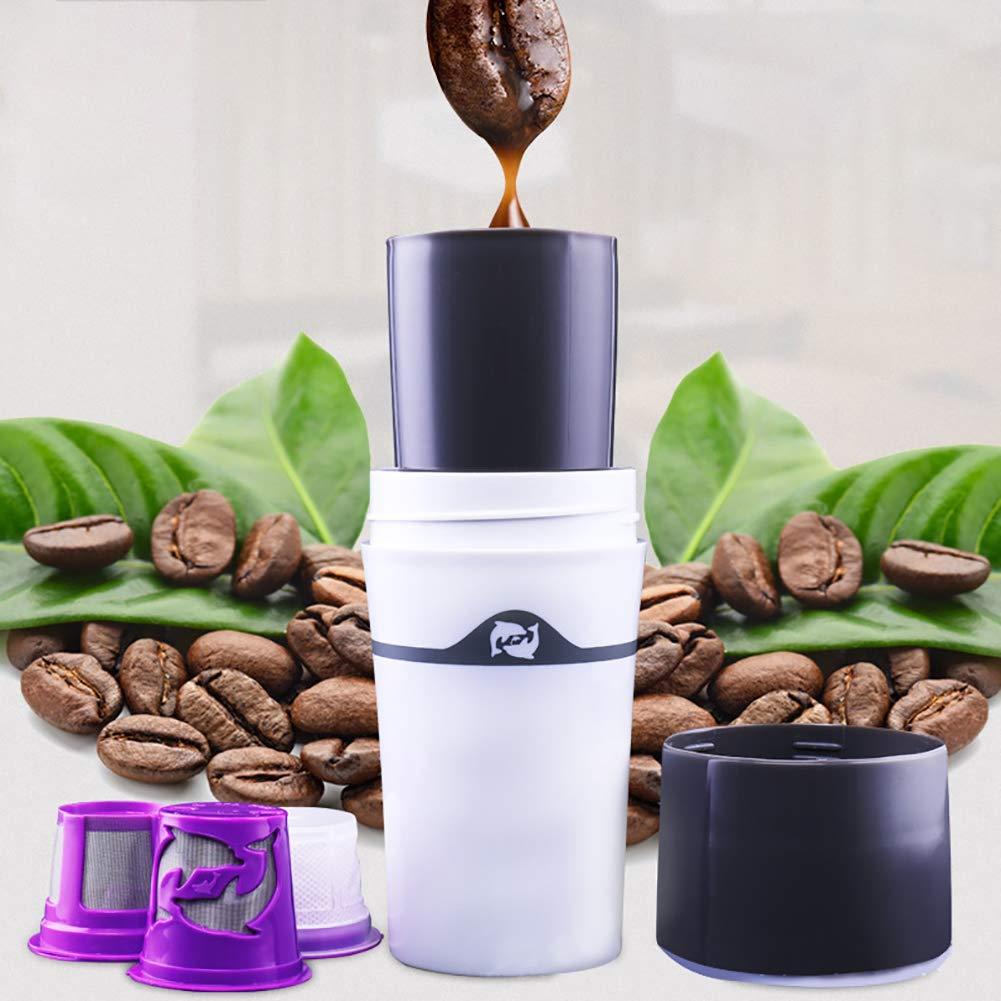 Acquisto Shentesel – Caffettiera francese per caffè da viaggio, tazza per K Cup – grigio bianco Prezzi offerta