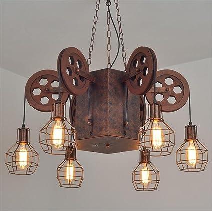 Atmko®Iluminación colgante Lámpara de techo retro grande ...