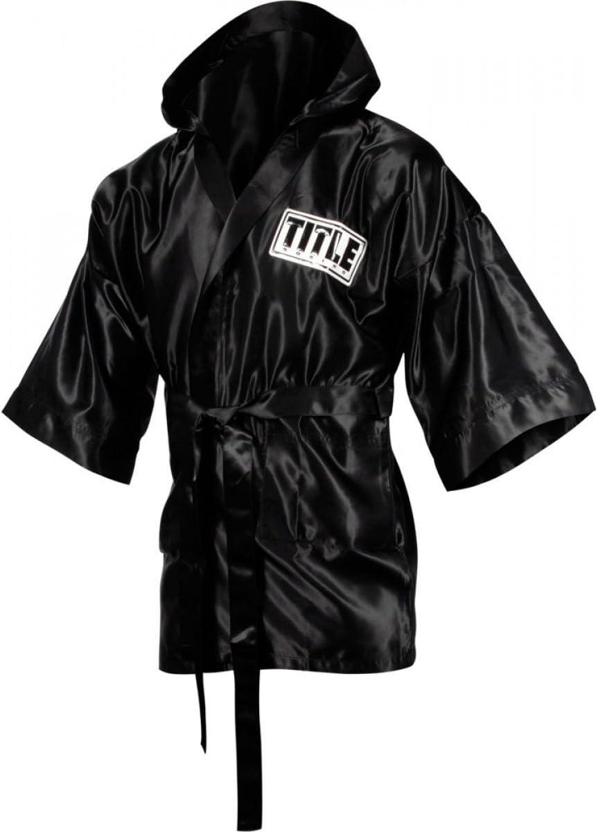 TITLE Boxing 3//4 Length Stock Satin Robe