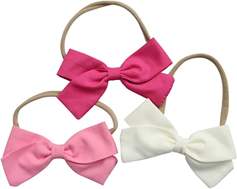Newborn Headband Baby Headband Bow Headband Dark Pink Headband Baby Girl Headband Infant Headband Baby Bow Dark Pink Bow Headband