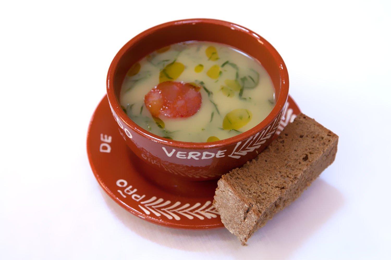 Juego de 4 tradicional Portuguesa pintados a mano Collard verdes sopa cuenco con plato: Amazon.es: Hogar