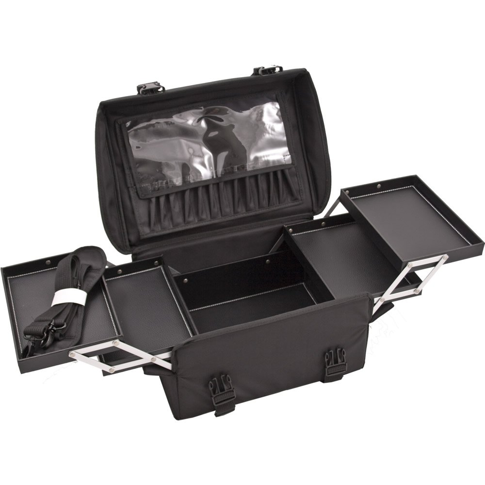 be528c2247dd Amazon.com   Sunrise Justcase T5272 2-in-1 Professional Soft Sided Hair  Stylist Rolling Makeup Cosmetic Case