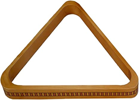 Triángulo de billar de madera 2 1/4