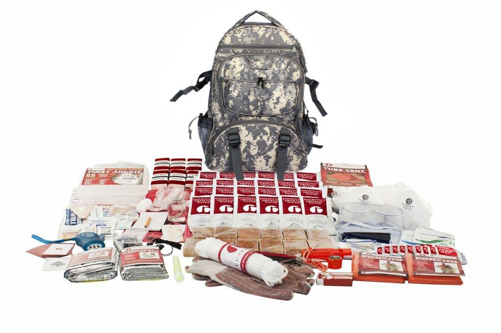 Guardian Survival Multi-Pocket Hiker's Elite Emergency Kit, 2 Person, Camo Backpack