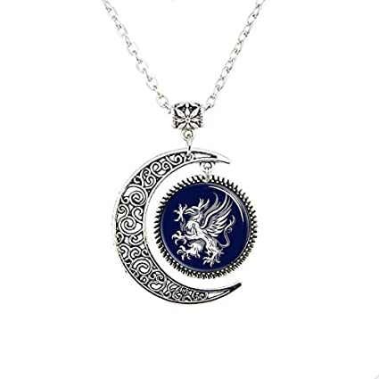 Amazoncom Hars Dragon Age Gray Wardens Moon Necklace Symbol Logo