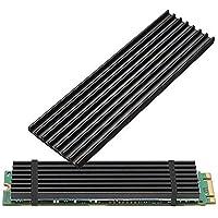 Awxlumv M.2 2280 SSD Heatsink Black Black-2 Pack