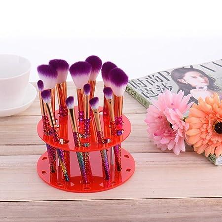 Amazon.com: Soporte de acrílico para brochas de maquillaje ...