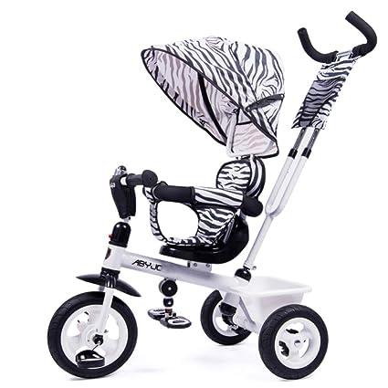GIFT Triciclo De Niños Cochecito De Niño Silla Antirrolleta Cochecito para Bebé Bicicleta Multifuncional De Tres
