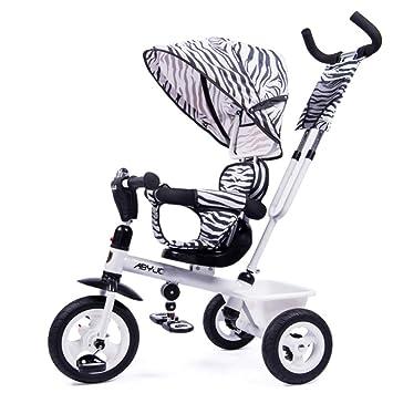 GIFT Triciclo De Niños Cochecito De Niño Silla Antirrolleta Cochecito para Bebé Bicicleta Multifuncional De Tres Ruedas Cochecito 4 En 1,C: Amazon.es: Hogar