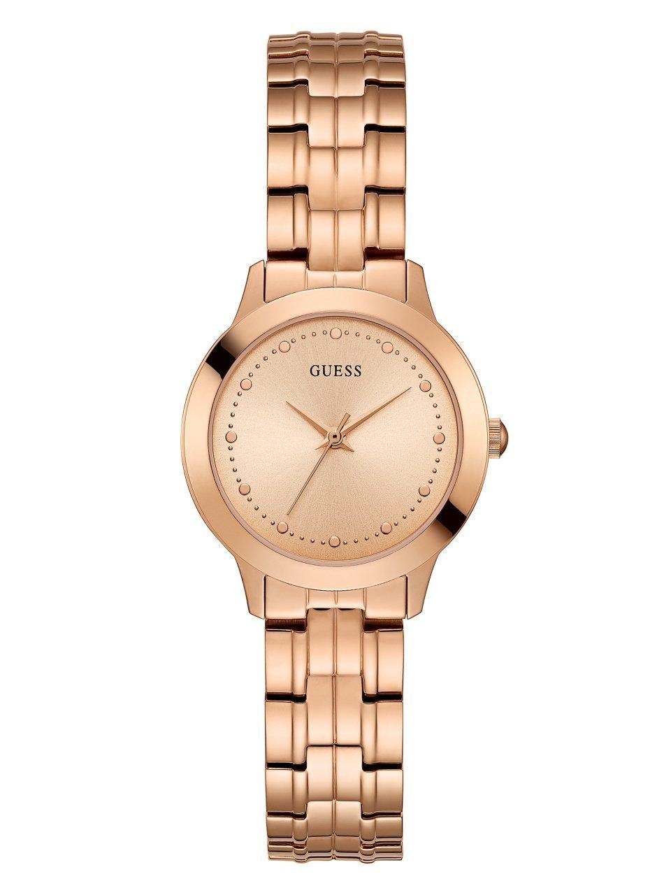 dfedf0e496 Galleon - GUESS Classic Slim Rose Gold-Tone Stainless Bracelet Watch.  Color: Rose Gold-Tone (Model: U0989L3)