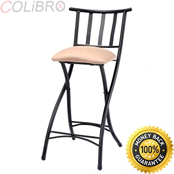 COLIBROX Set Of 4 Folding Bar Stools 23u0026quot; Counter Height Bistro Dining  Kitchen Pub Chair