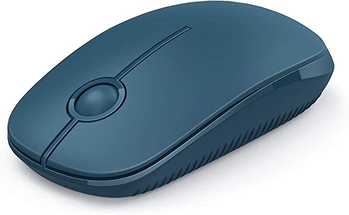 Jelly Comb 2.4G Slim Wireless Mouse with Nano Receiver, Less Noise, Portable Mobile Optical Mice for Notebook, PC, Laptop, Computer, MacBook (Sapphire Blue)