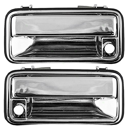 Driver and Passenger Front Outside Door Handles Chrome Specialty Replacement for Chevrolet Cadillac GMC Pickup 15708043 15708044 AutoAndArt