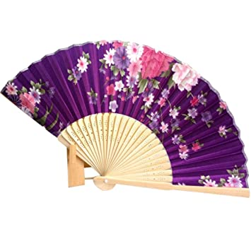 Amazon binmertm japanese cherry blossom folding hand dancing binmertm japanese cherry blossom folding hand dancing wedding party decor fan chinese fans junglespirit Images