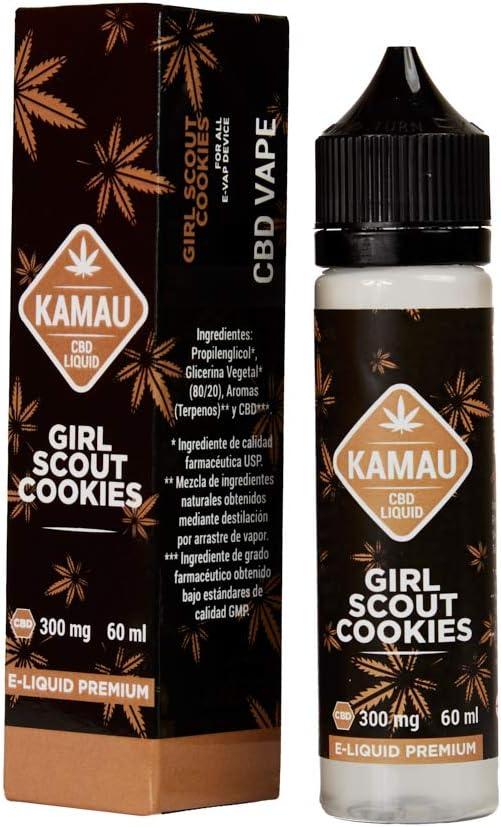 Kamau E-liquido de Extracción con Cbd para Vape con Terpenos de Girl Scout Cookie con Efecto Terapéutico | 99,8% de Pureza de Cbd sin Nicotina - 60 ml para Recarga de Cigarrillo Electronico