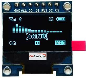 """HiLetgo 0.96"""" SPI Serial 128X64 OLED LCD Display SSD1306 for 51 STM32 Arduino Font Color Blue (Blue-SPI)"""