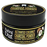 Activated Charcoal Teeth Whitening Powder - 100% Organic Coconut Active Charcoal Tooth Whitener. No need for Whitestrips, Kits, Gel or Teeth whitening toothpaste (3-6 month supply)