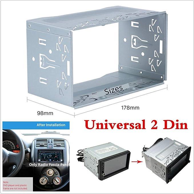 Allgemeine Dvd Installationsbox Metall Langlebig Stereo Radio Rahmen 2 Din Radio Einbaurahmen Silber Küche Haushalt