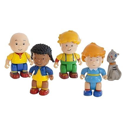 Caillou Mini Mochila con 5 Figuras, Unico (Giochi Preziosi 02588)