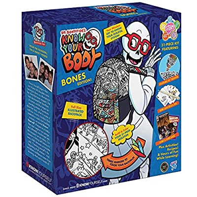 Know Yourself DRBKYBBO Dr. Bonyfide's Know Your Body: Bones Edition, Multicolor: Toys & Games