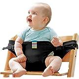 Le lavable Portable Voyage Chaise haute Réhausseur Siège bébé avec sangles Harnais de sécurité pour bébé la Sangle pour bébé (8couleurs) #–81086–